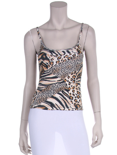 Women's leopard tank top.