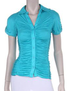 Aqua Scrunch Top