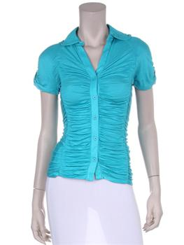 Front view of aqua top.